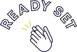 logo - ready set - purple